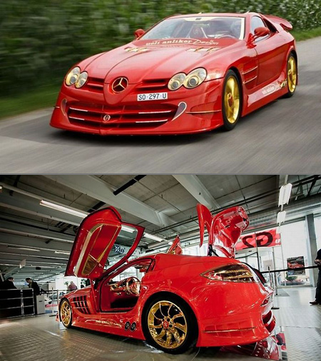 Mercedes benz slr mclaren red gold dream costs 11 million for Most expensive mercedes benz in the world