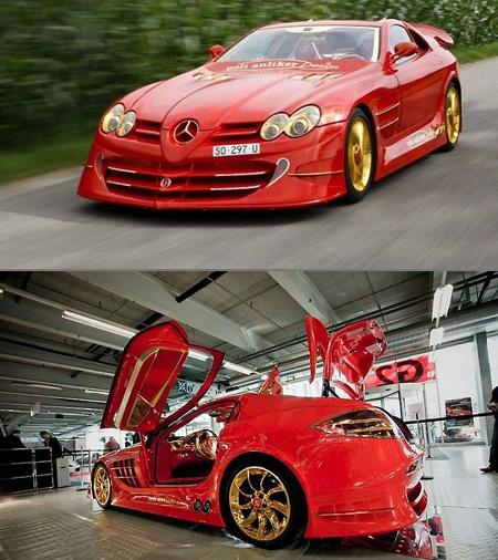 Mercedes benz slr mclaren red gold dream costs 11 million for Mercedes benz most expensive