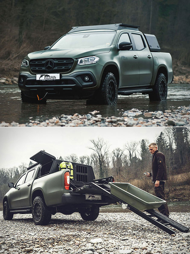 Mercedes Benz X Class By Gruma Hunter Is A Pickup Truck Designed For