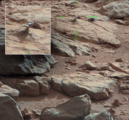 NASAs Curiosity Rover Has Discovered A Strange Metallic Finger Object On The Surface Of Mars Some Researchers Are Speculating That It Might Be Real