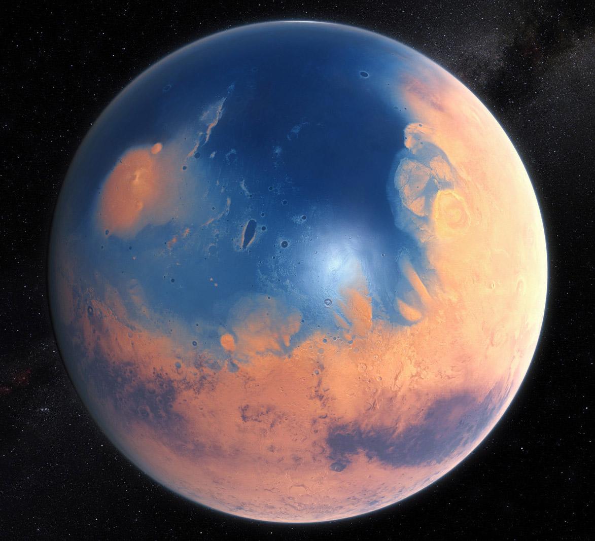 Meteoroid Mars Megatsunami