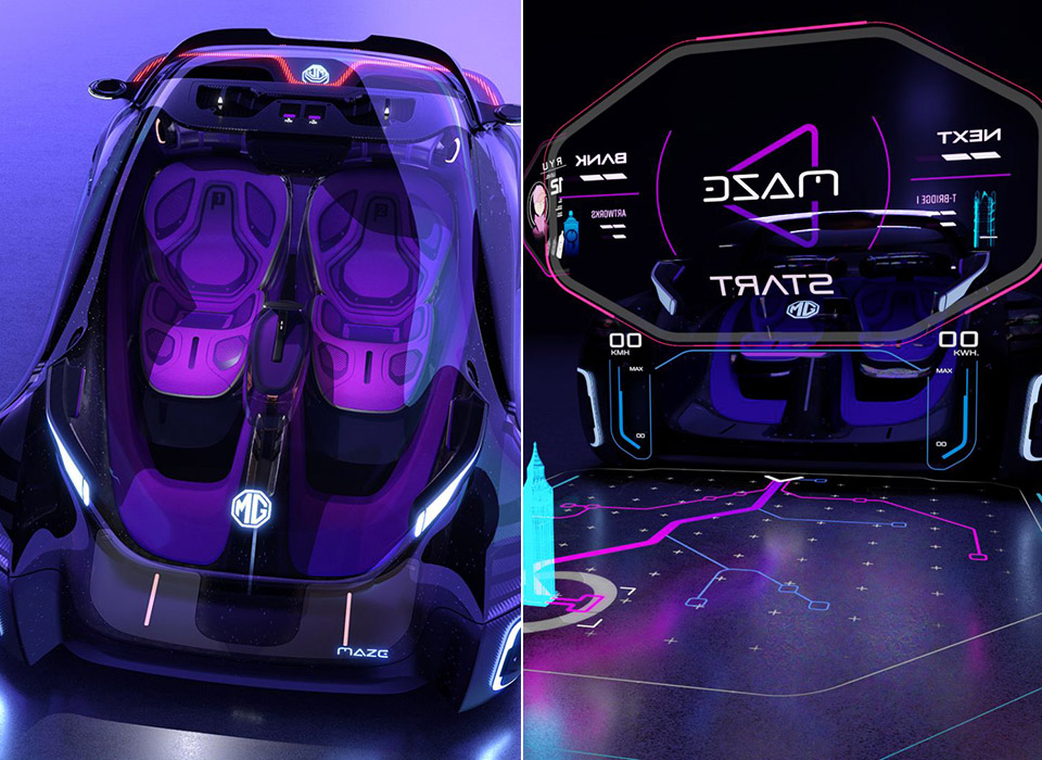 MG Maze Electric Vehicle EV Concept Video Game