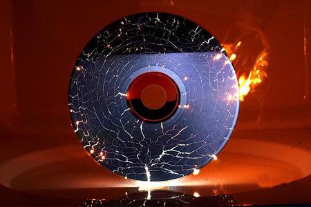 Microwaved CD