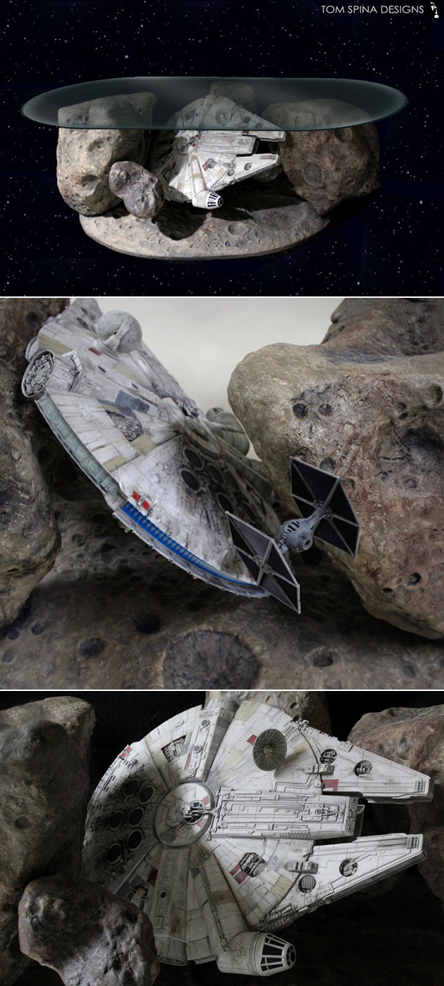 Millennium Falcon Asteroid Field Coffee Table Might Be