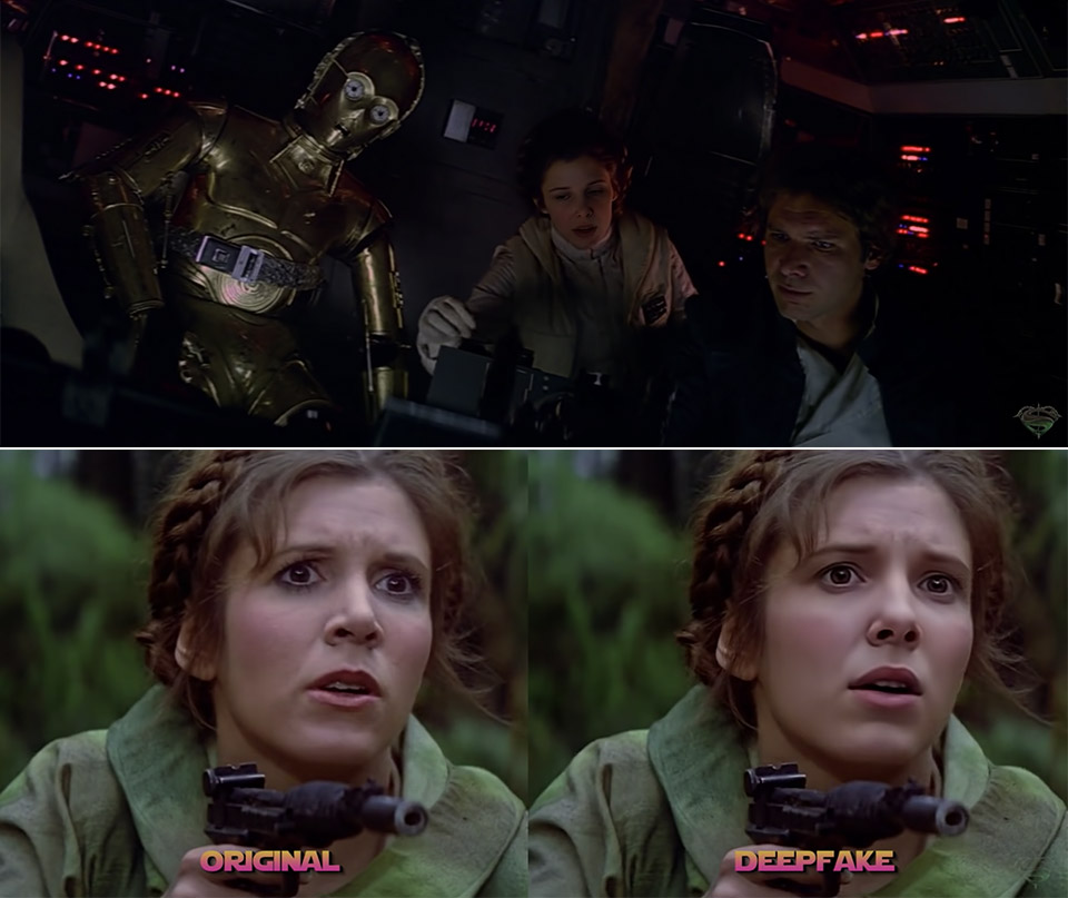 Millie Bobby Brown Princess Leia Deepfake