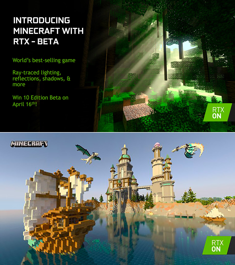 Minecraft NVIDIA RTX Ray Tracing