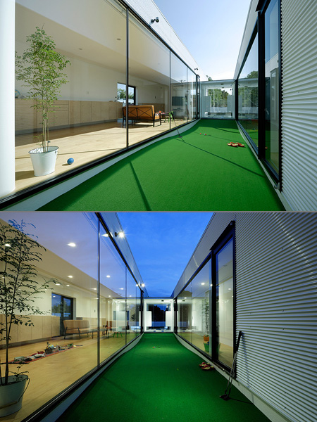 Amazing House in Japan with a Miniature Golf Course - TechEBlog
