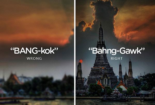 Mispronouncing Bangkok