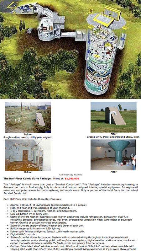 Zombie Apocalypse Proof Missile Silo Homes Sell Out