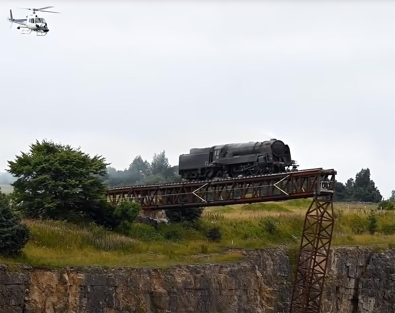 Mission Impossible 7 Train Crash Stunt