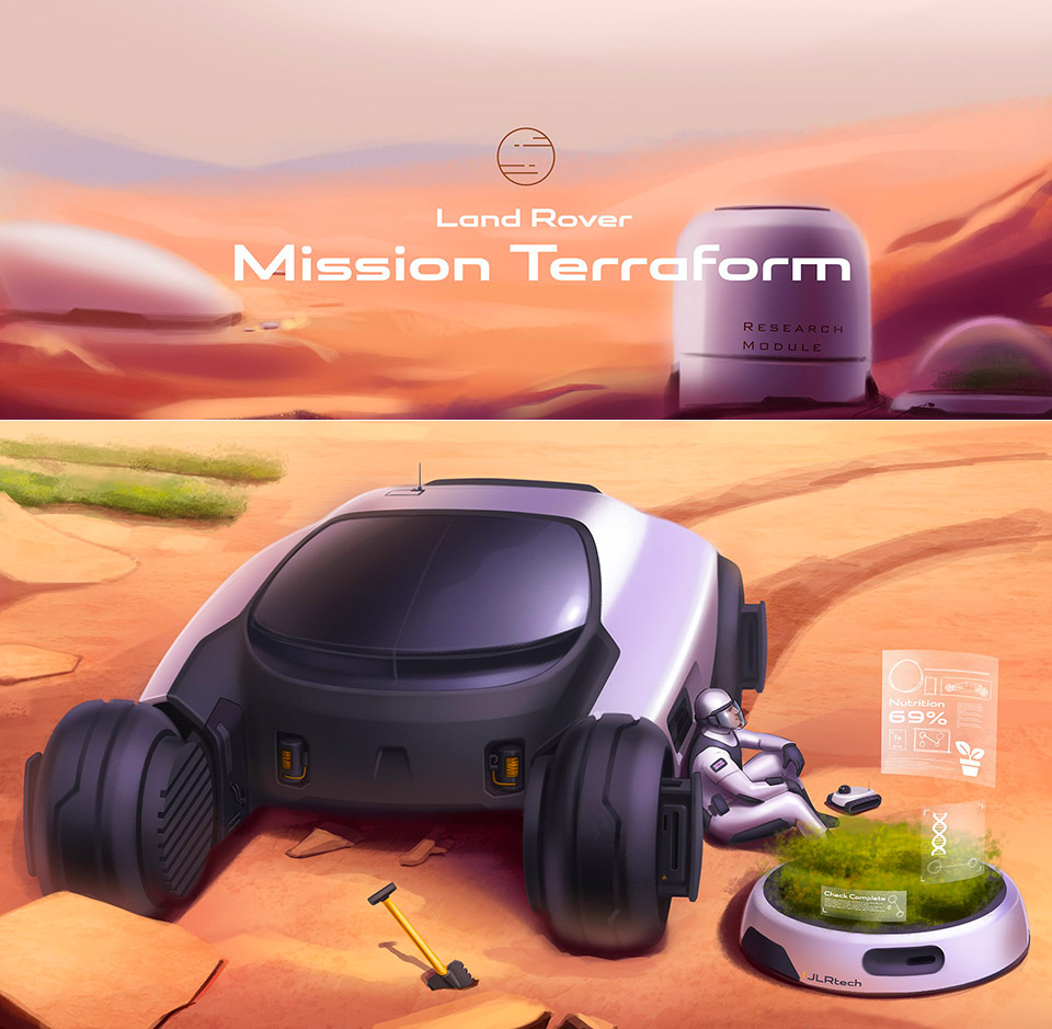 Mission Terraform Land Rover Mars