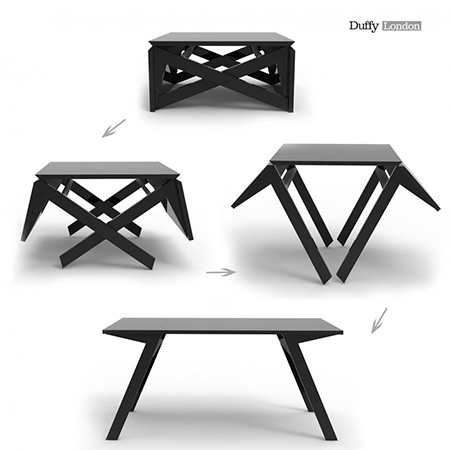 Transformer Coffee Table.Mk1 Transformer Table Goes From Coffee Table To Dining In Seconds