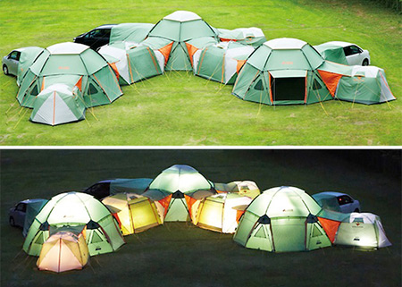 Awesome Modular Tent System Can Be Configured to Your Liking & Awesome Modular Tent System Can Be Configured to Your Liking - TechEBlog