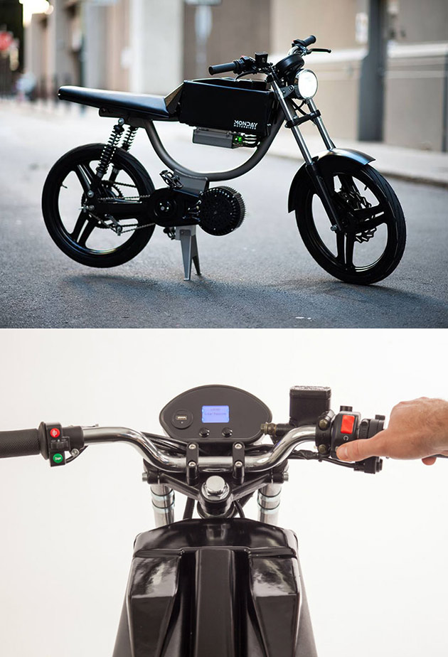 Monday Motorbikes M1 is Fully-Electric, Has Integrated USB Charging Port and Bluetooth Connectivity