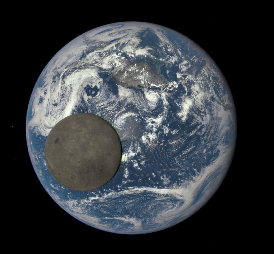 Moon Transiting Earth