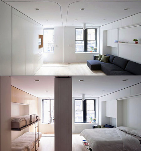 Awesome Morphing Apartment Packs 6 Rooms In 1