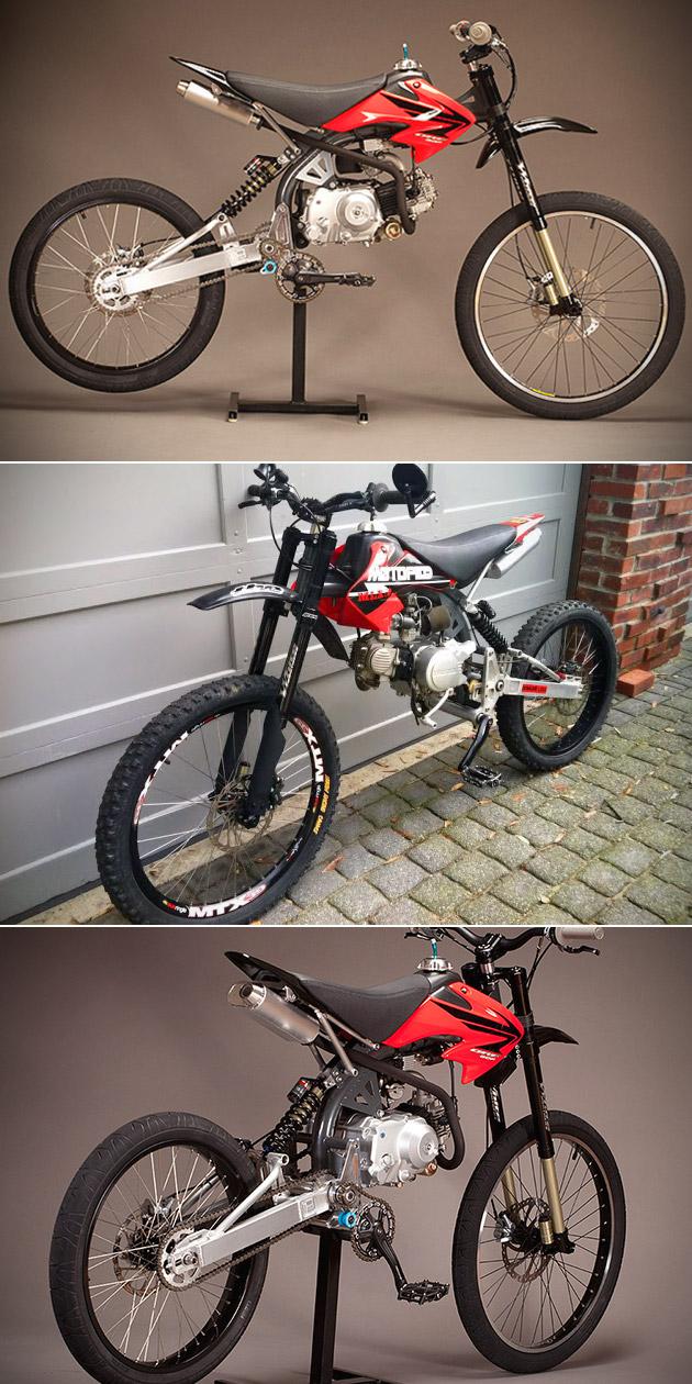 Motoped Motorized Bicycle