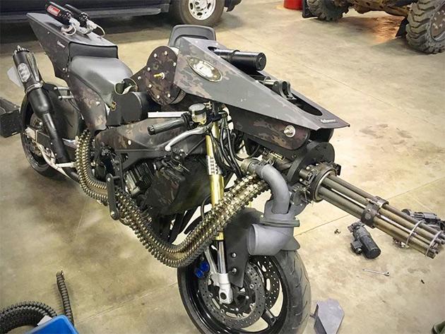 Motorcycle Minigun