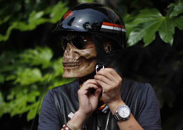 Motorcycle Skull Half Mask