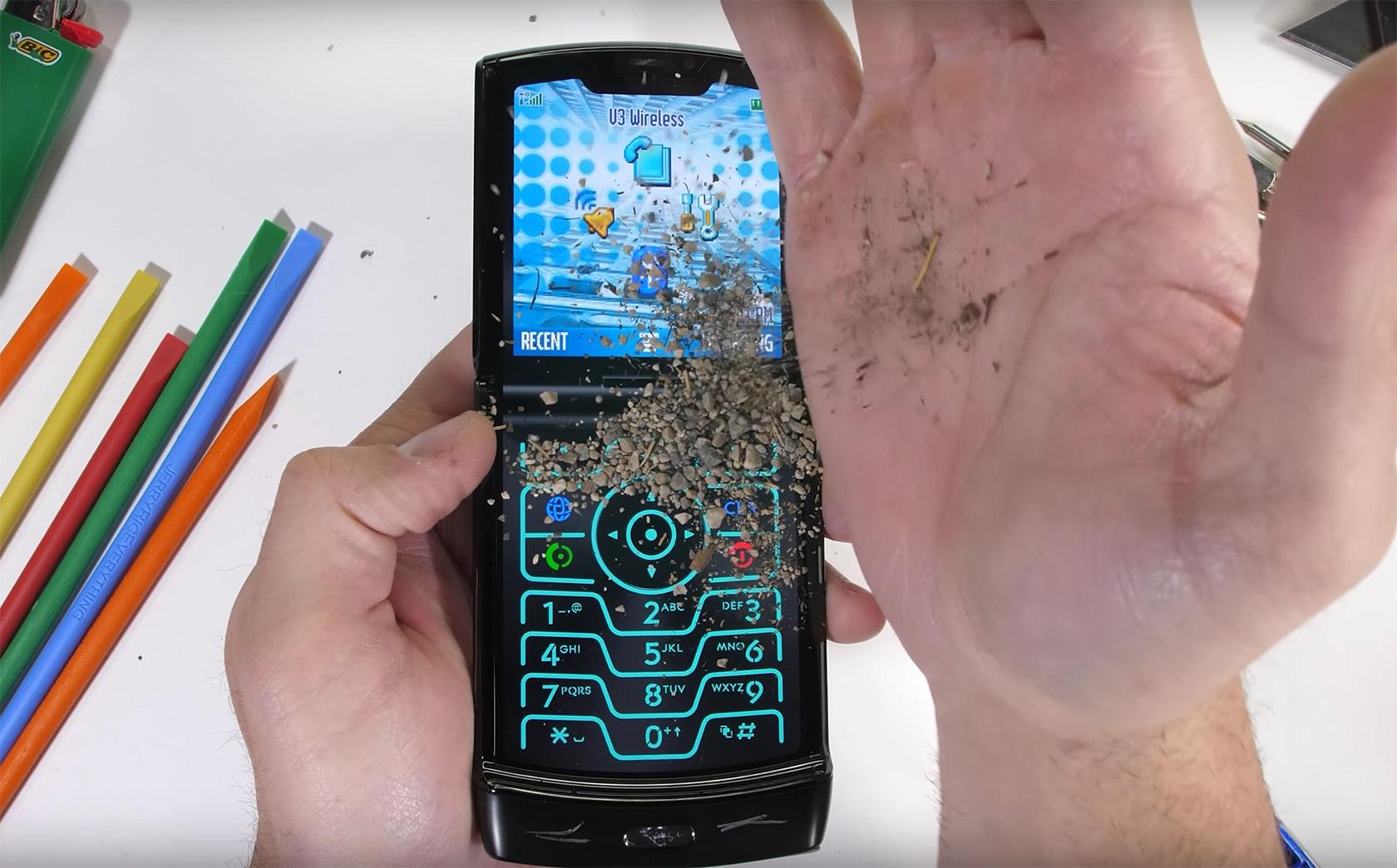 Motorola RAZR 2020 Durability Test