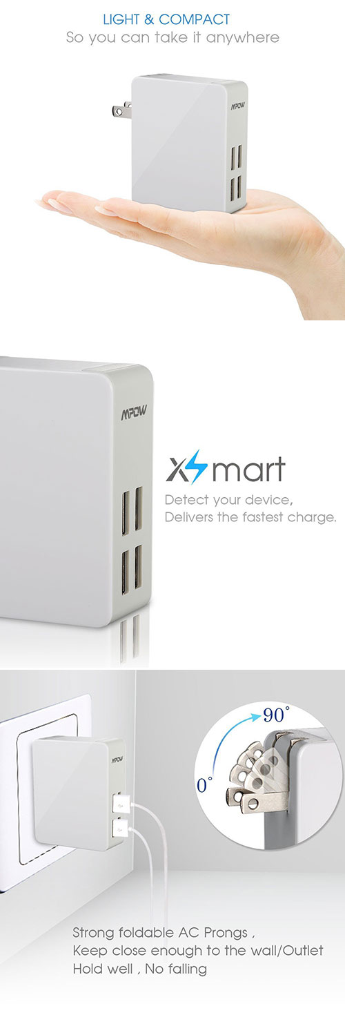 Mpow 4-Port USB Wall Charger