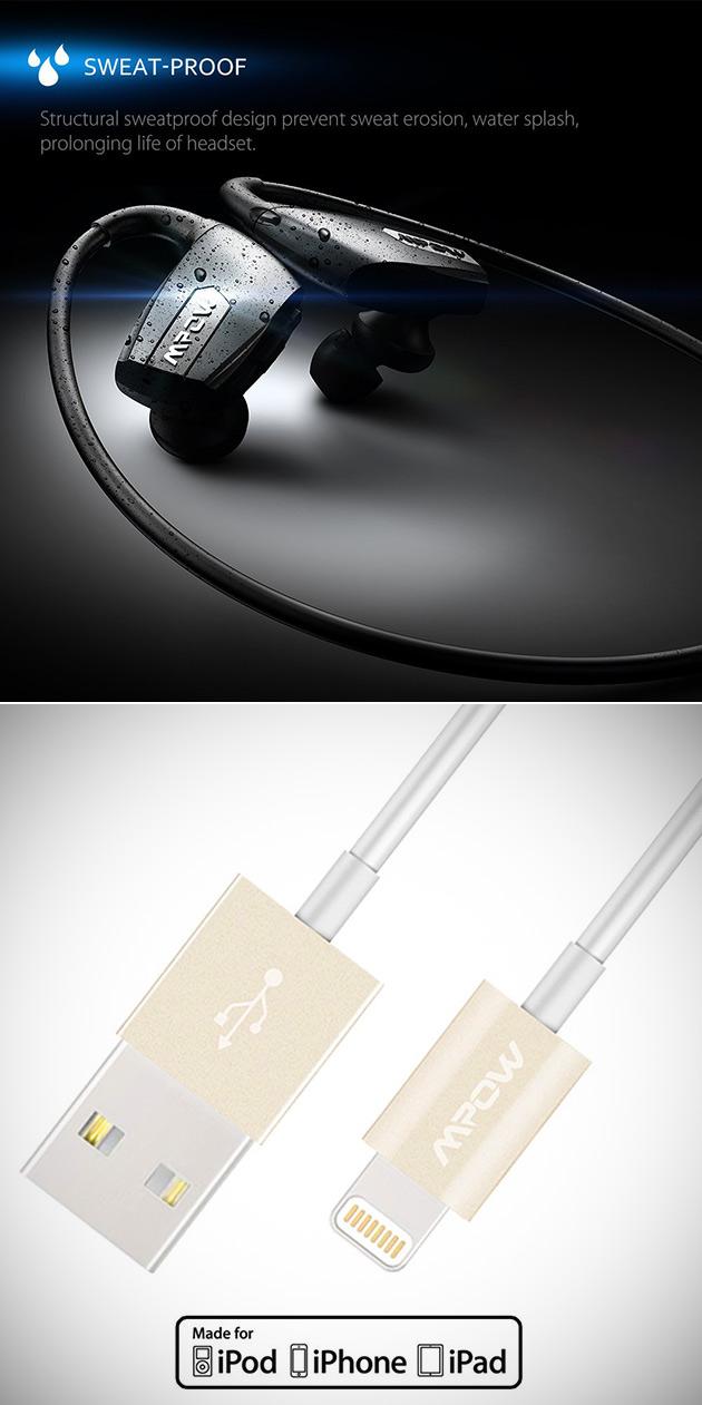 Mpow Headphones Lightning Cable