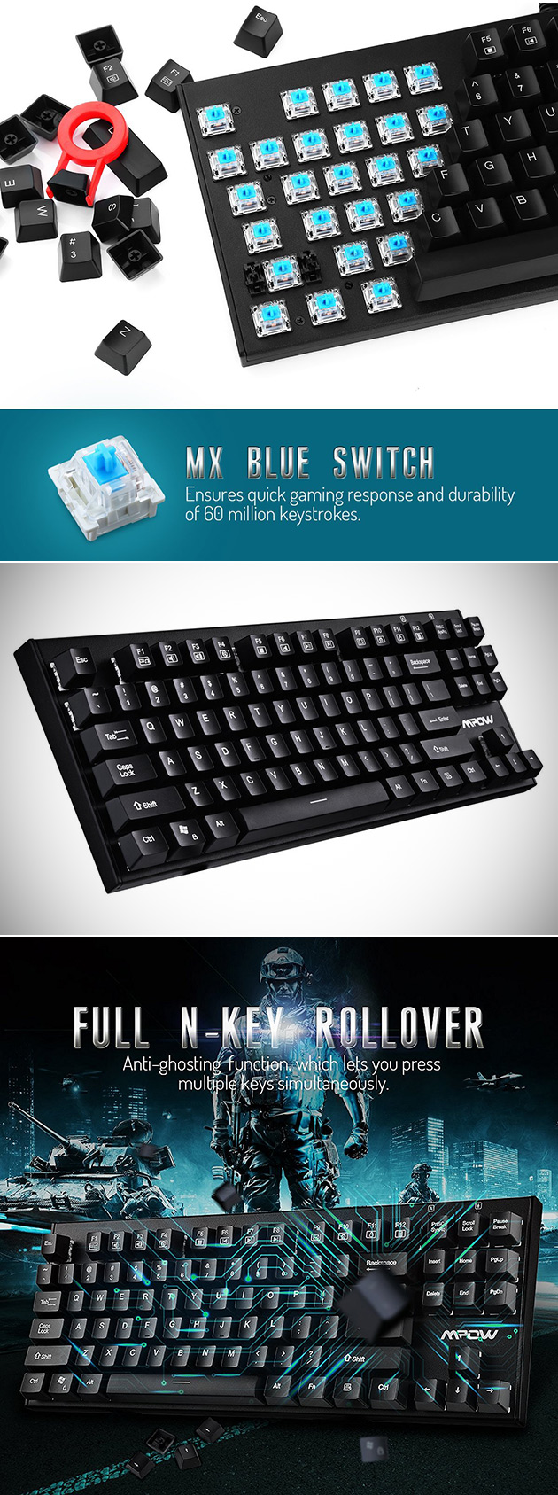 Mpow Mechanical Keyboard