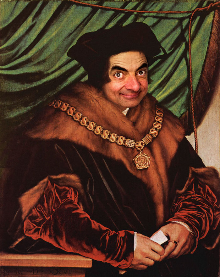 Artist Digitally Inserts Mr  Bean Into Famous Historical