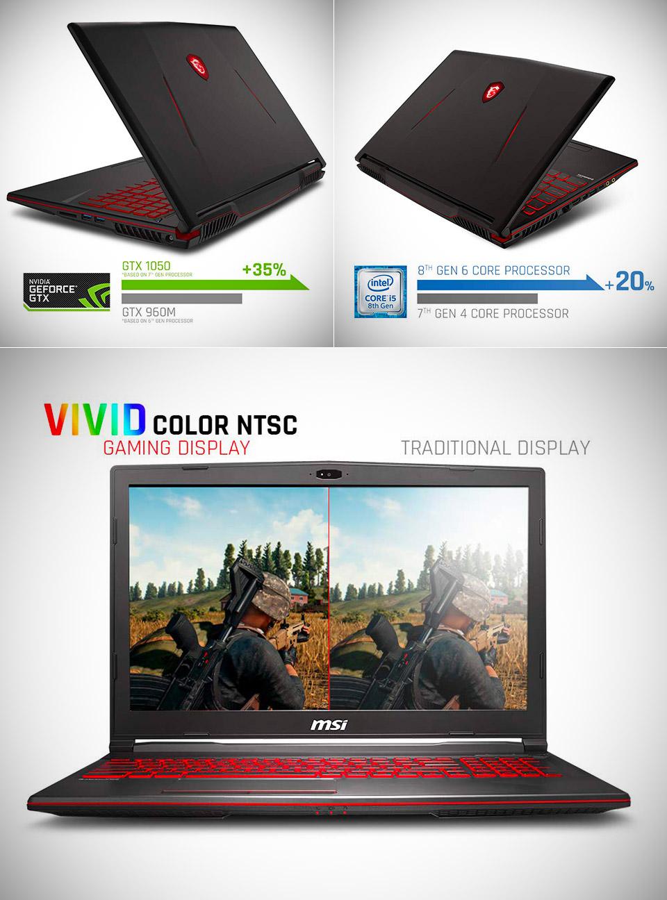 MSI GL63 Gaming Laptop