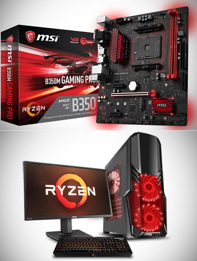 MSI B350M Jeu Pro carte Mère est Parfait pour la Construction d'un AMD Ryzen PC, Obtenir Un de 69,99 $Livré