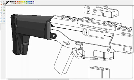 Time-Lapse Video Shows Incredible MS Paint Rifle Drawing - TechEBlog