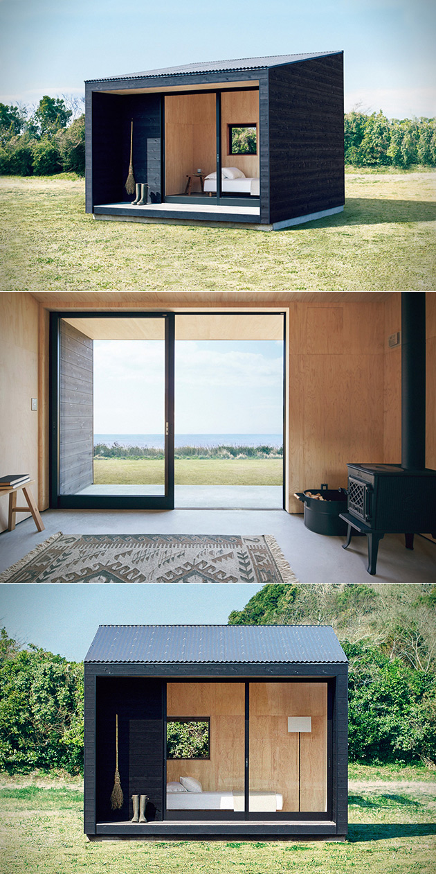 muji hut is a minimalistic yet functional tiny home that will cost you just 27 000. Black Bedroom Furniture Sets. Home Design Ideas