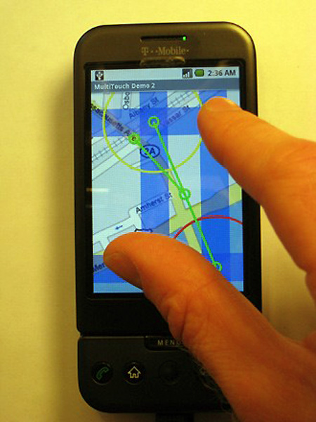 Multi-Touch on the T-Mobile G1 – TechEBlog