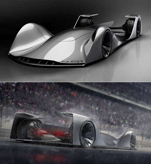 autonomous race car concept is capable of driving itself inspired by the sr 71 techeblog. Black Bedroom Furniture Sets. Home Design Ideas