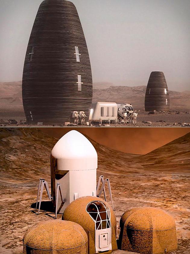 NASA 3D-Printed Mars Habitats