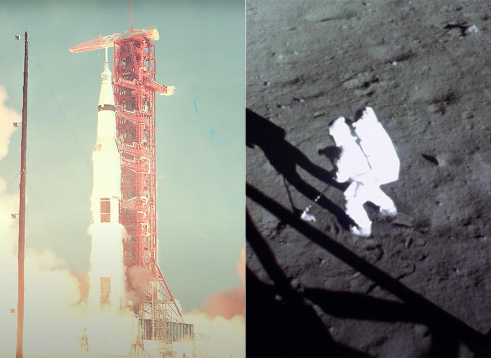NASA Apollo 11 Launch Moon Landing AI