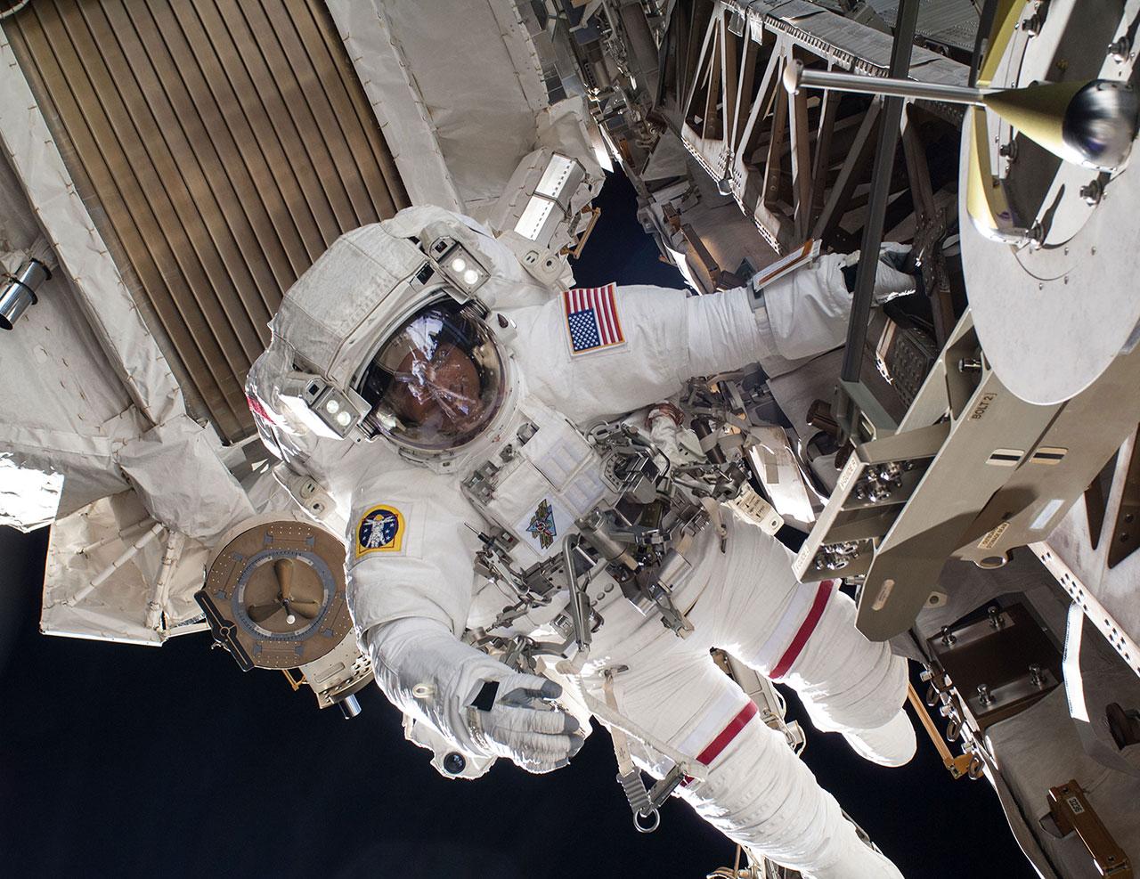 NASA Astronaut Extravehicular Activity ISS