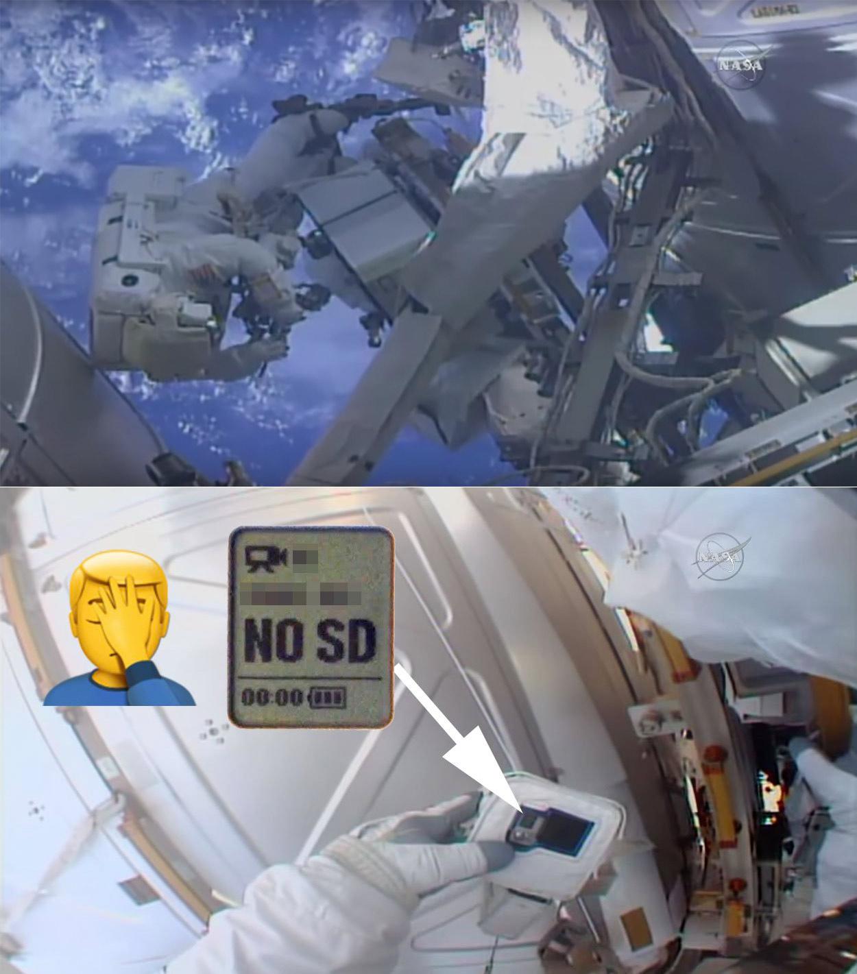 NASA Astronaut SD Card