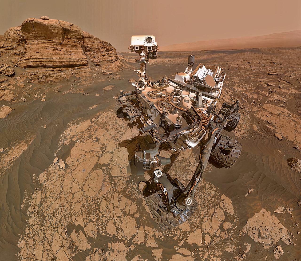 NASA Curiosity Mars Rover Selfie Mont Mercou