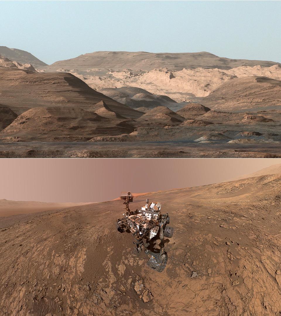 NASA Curiosity Mount Sharp Mars