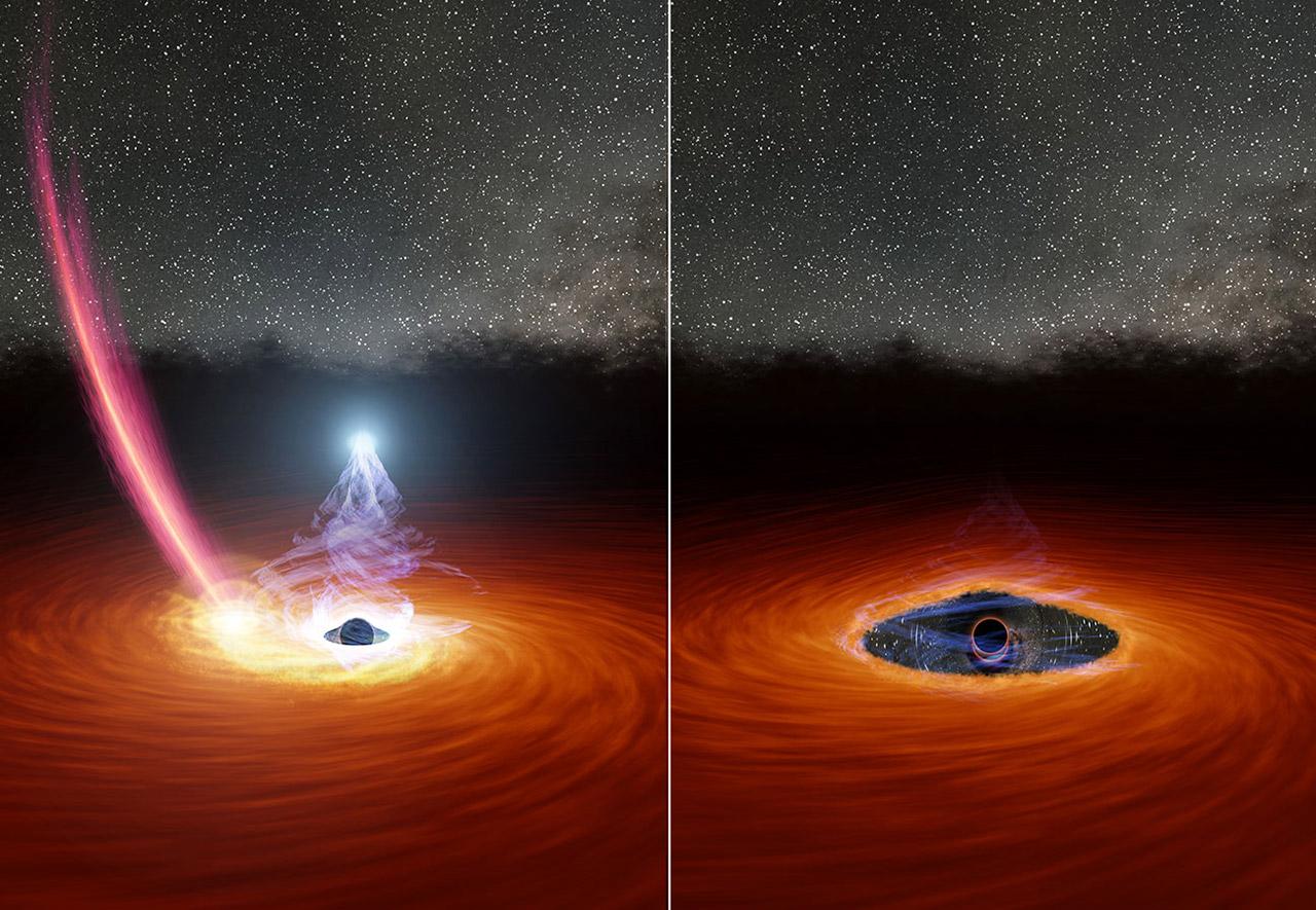 NASA Disappearing Black Hole Star