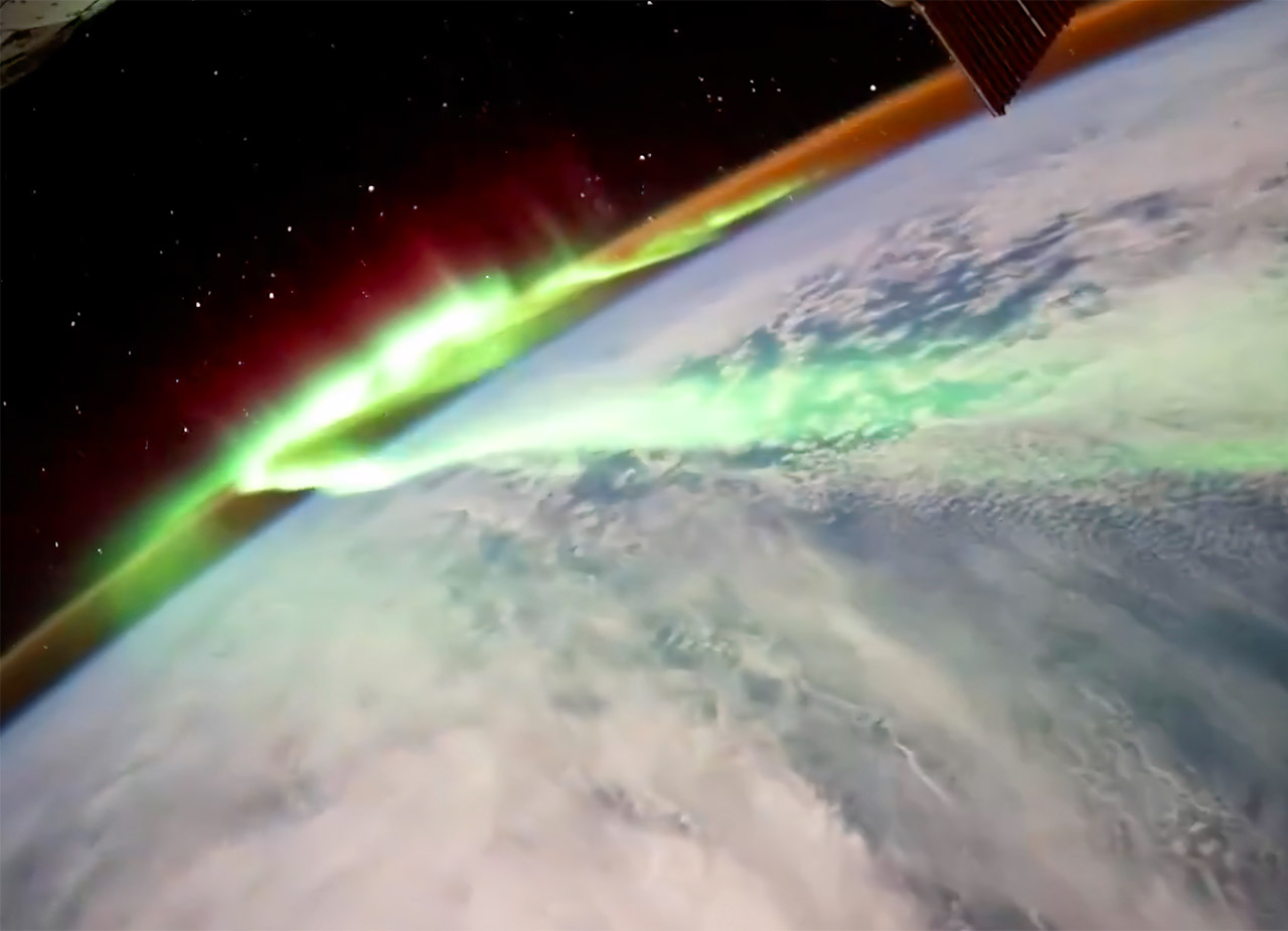 NASA ESA Astronaut Thomas Pesquet Aurora Borealis ISS