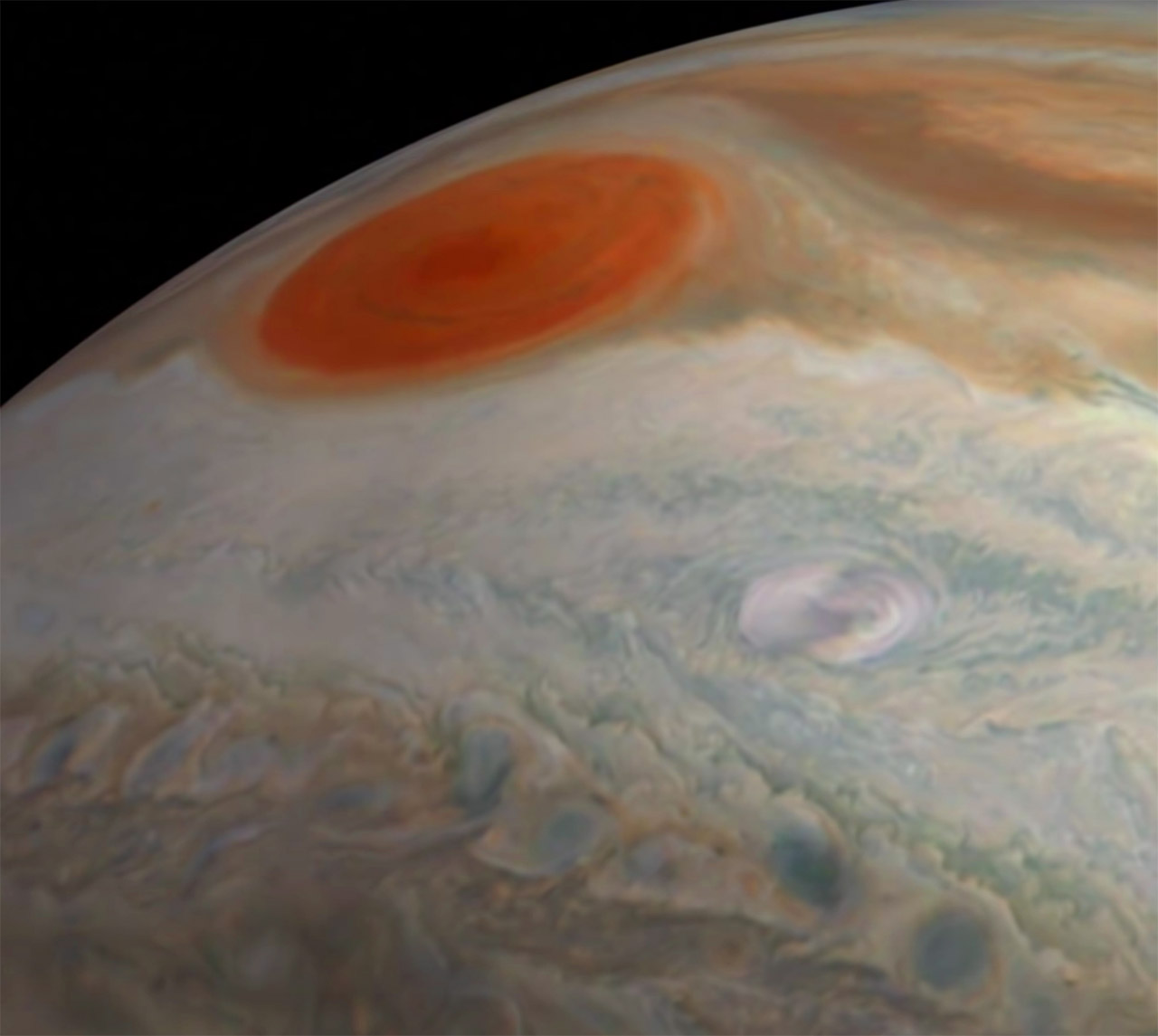 NASA Flight Over Jupiter Juno