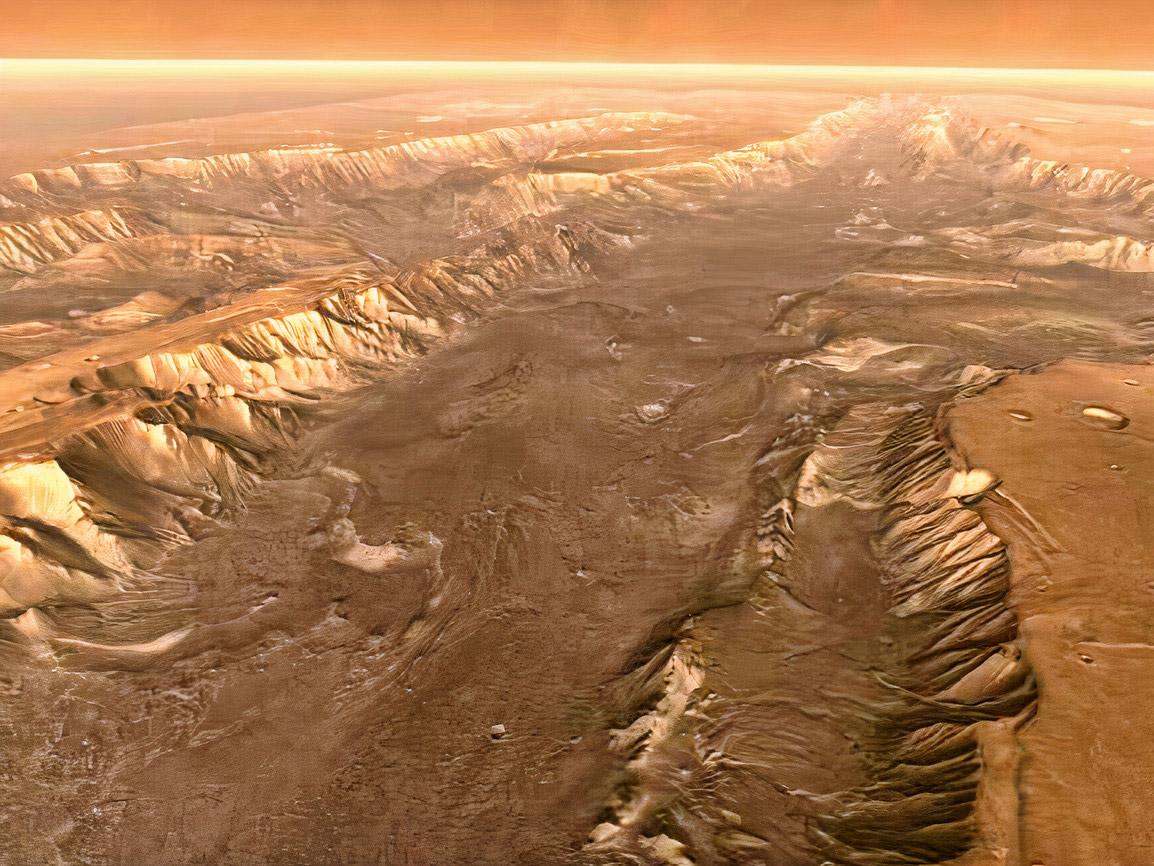 NASA HiRise Valles Marineris Grand Canyon