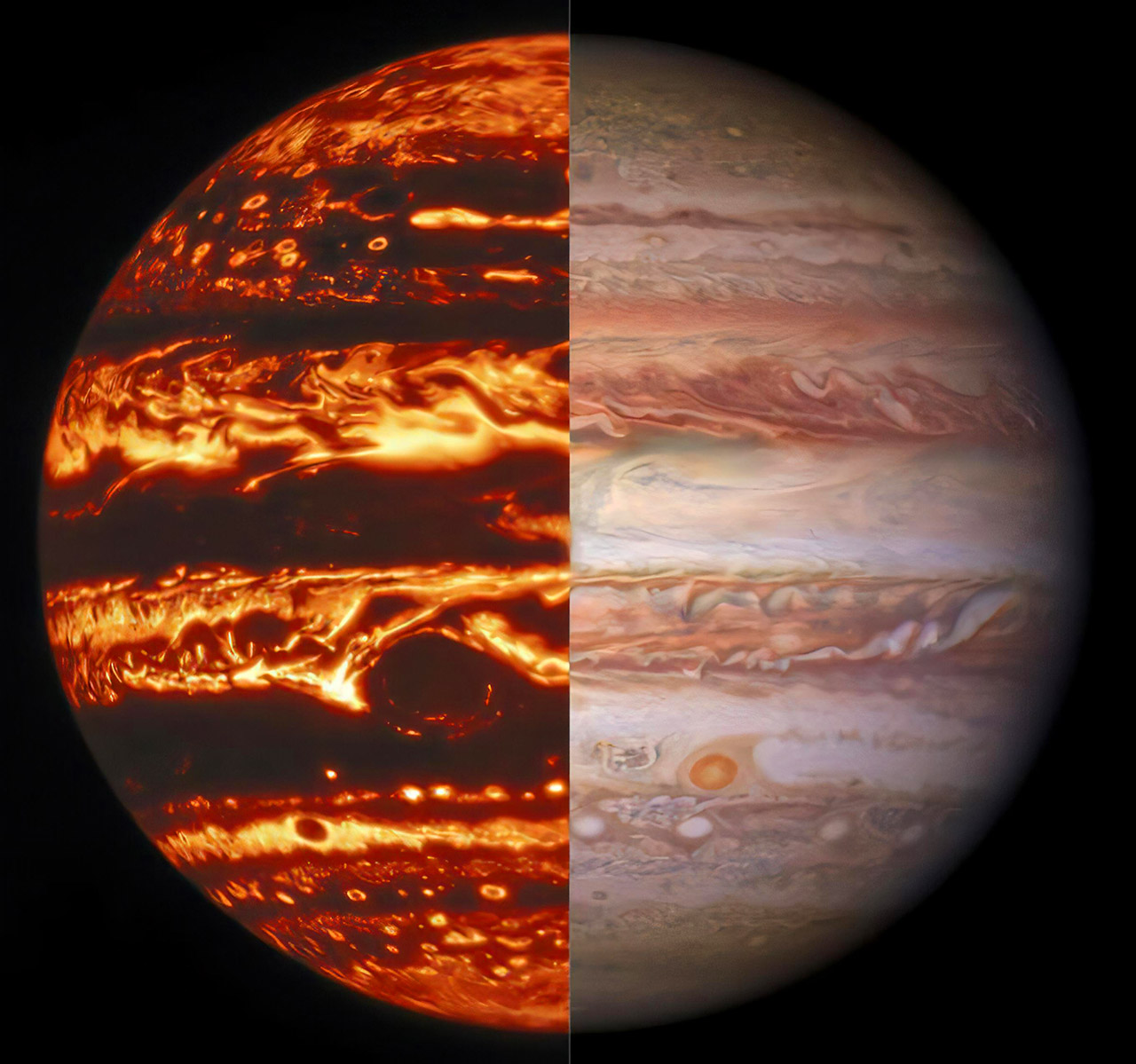 NASA Hubble Space Telescope Jupiter Great Red Spot Light