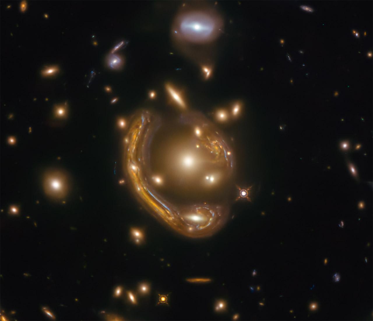 NASA Hubble Space Telescope Molten Ring Galaxy