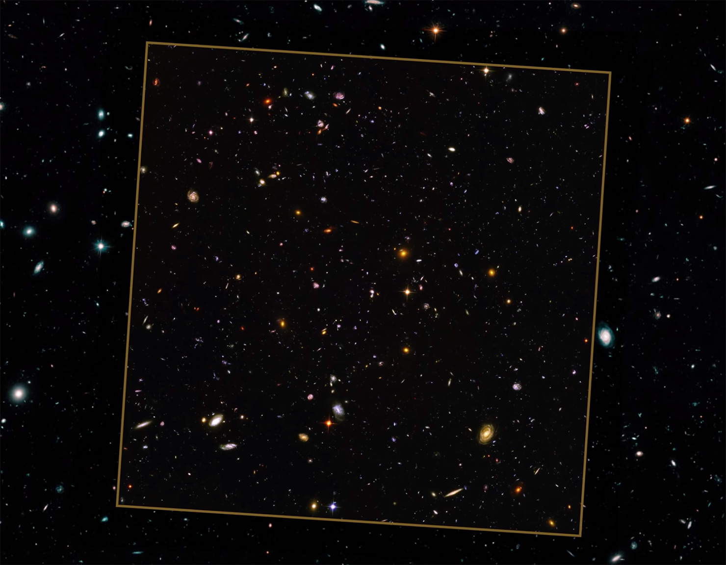 NASA Hubble Space Telescope Zoom-Out Universe