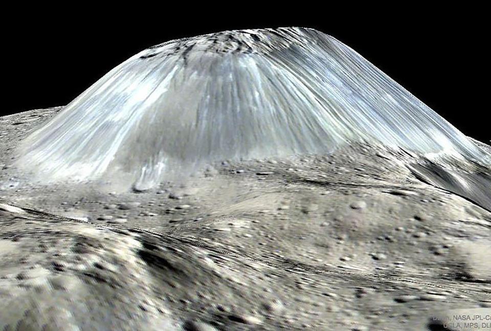 NASA Ice Mountain Dwarf Planet Ceres