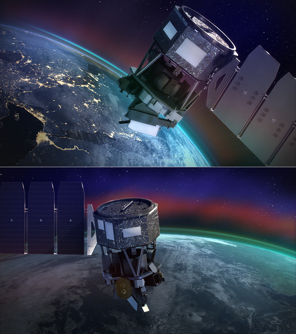 NASA Ionospheric Connection Explorer Satellite Pegasus Rocket Launch