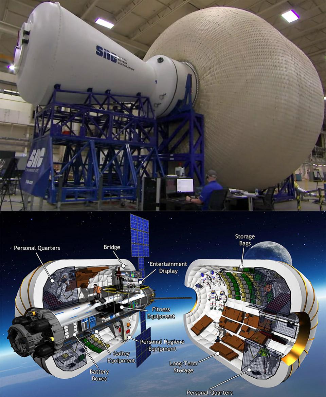 NASA Inflatable Space Habitat Moon